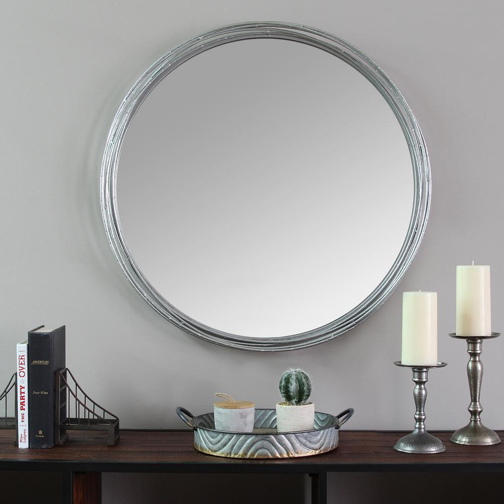 Stratton Home Decor Jocelyn Metal Wall Mirror S09557 – The Pertaining To Estrela Modern Sunburst Metal Wall Mirrors (View 18 of 20)