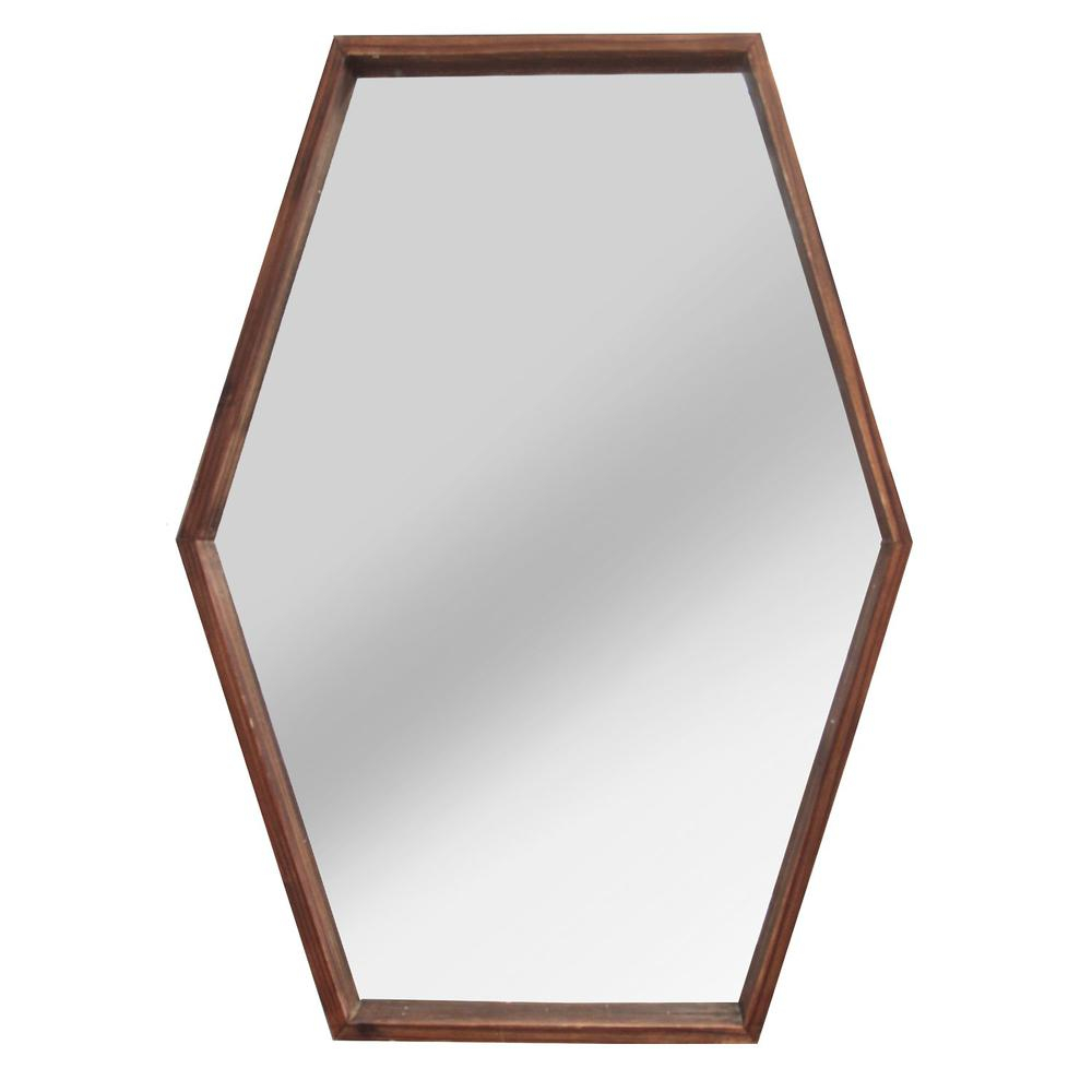 Stratton Home Decor Jojo Wood Mirror Regarding Bruckdale Decorative Flower Accent Mirrors (View 20 of 20)