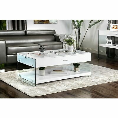 Strick & Bolton Markus Contemporary Glass Coffee Table | Ebay Within Strick & Bolton Florence Chrome Coffee Tables (Image 15 of 25)
