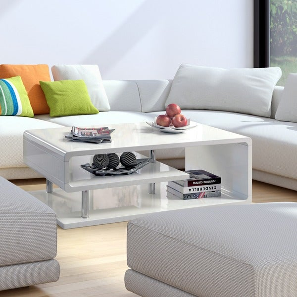 Featured Image of Strick & Bolton Sylvia Geometric High Gloss Coffee Tables