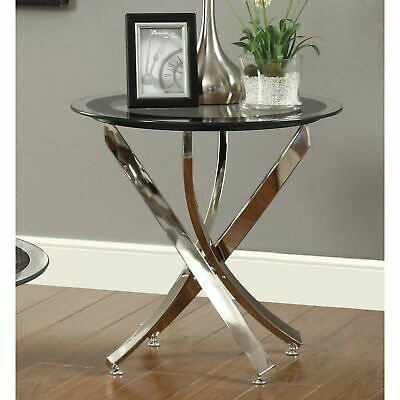 Strick & Bolton Tanner Espresso End Table With Shelf Within Strick & Bolton Florence Chrome Coffee Tables (View 16 of 25)