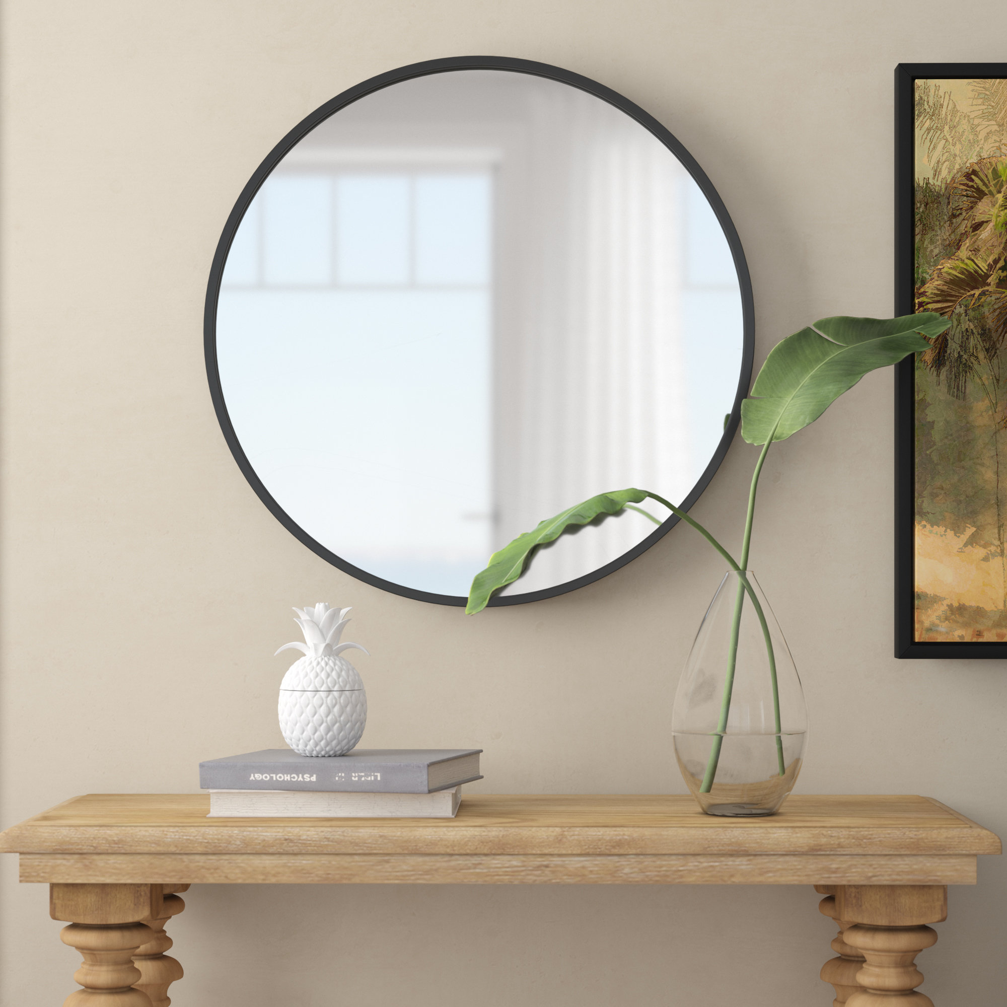 Studded Mirror   Wayfair In Polen Traditional Wall Mirrors (View 15 of 20)