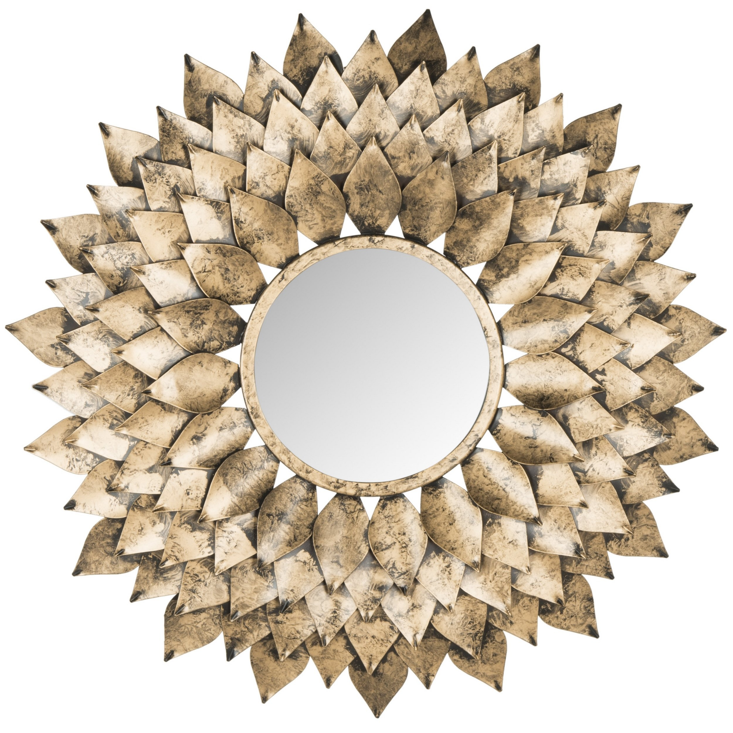 Sunburst Accent Mirror Within Cromartie Tree Branch Wall Mirrors (Image 11 of 20)