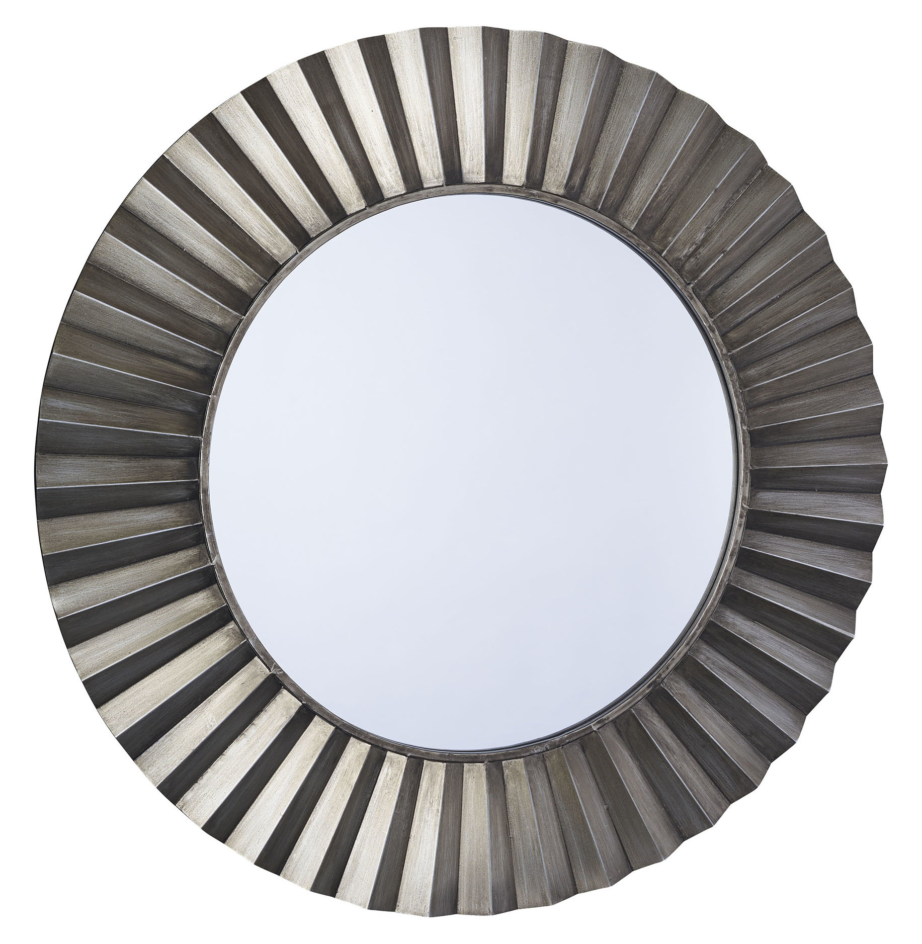 Sunburst Round Wall Mirror For Point Reyes Molten Round Wall Mirrors (Image 17 of 20)