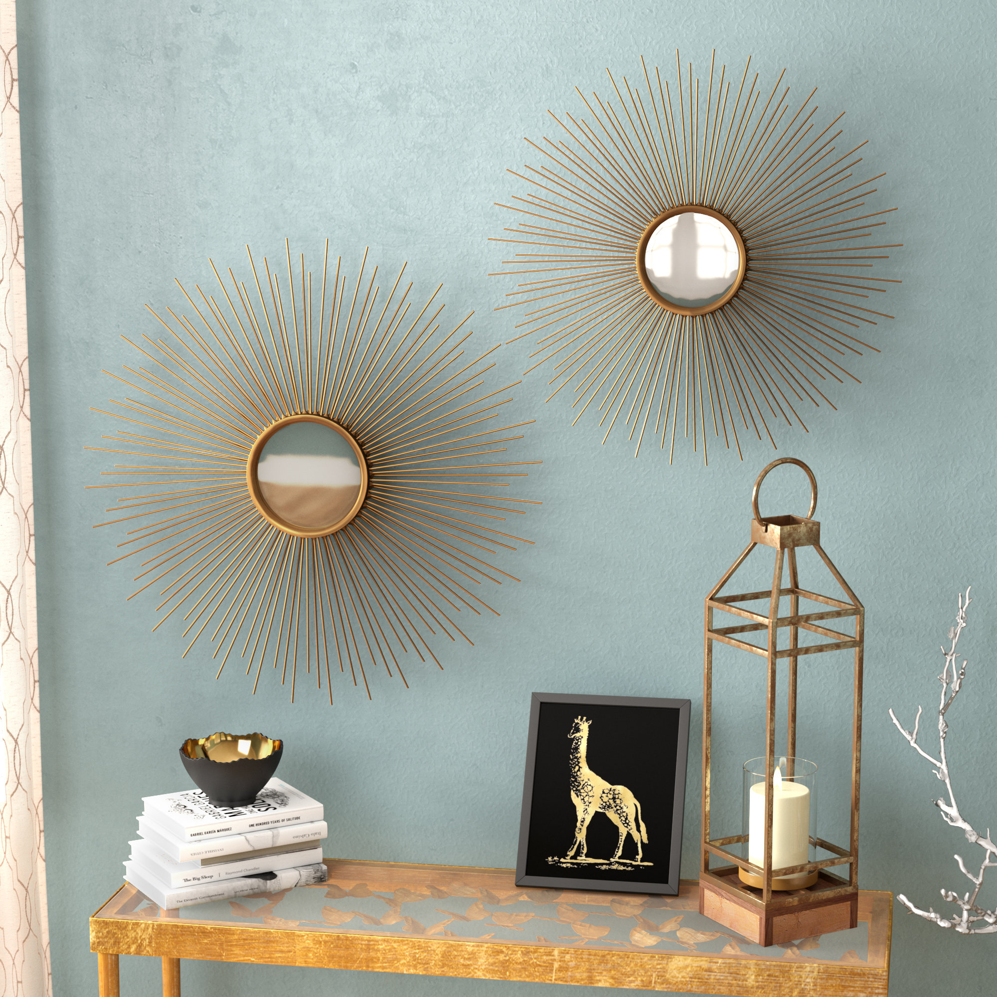 Sunburst Wall Mirrors You'll Love In 2019 | Wayfair Inside Orion Starburst Wall Mirrors (Image 16 of 20)