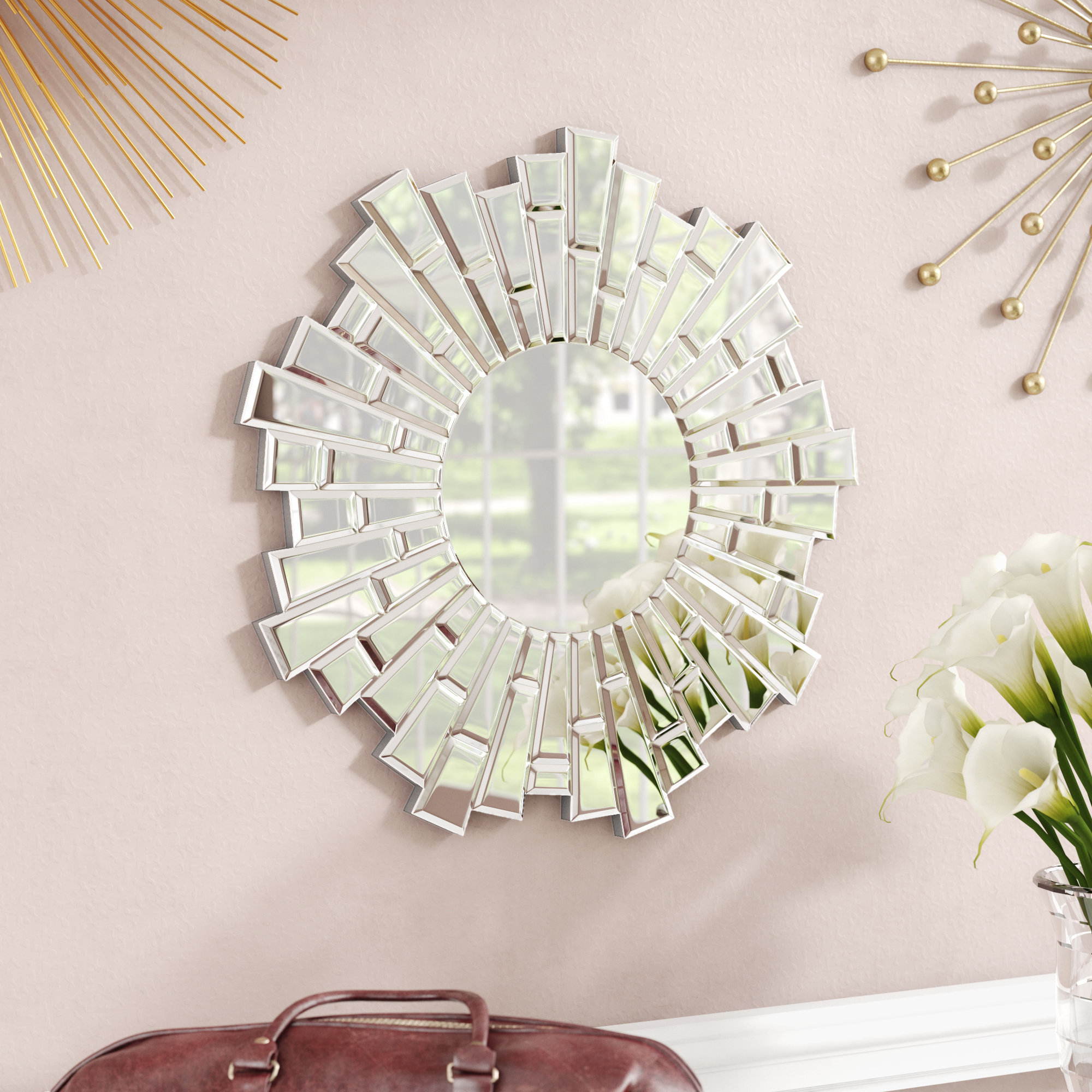 Sunburst Wall Mirrors You'll Love In 2019 | Wayfair With Regard To Bruckdale Decorative Flower Accent Mirrors (View 9 of 20)