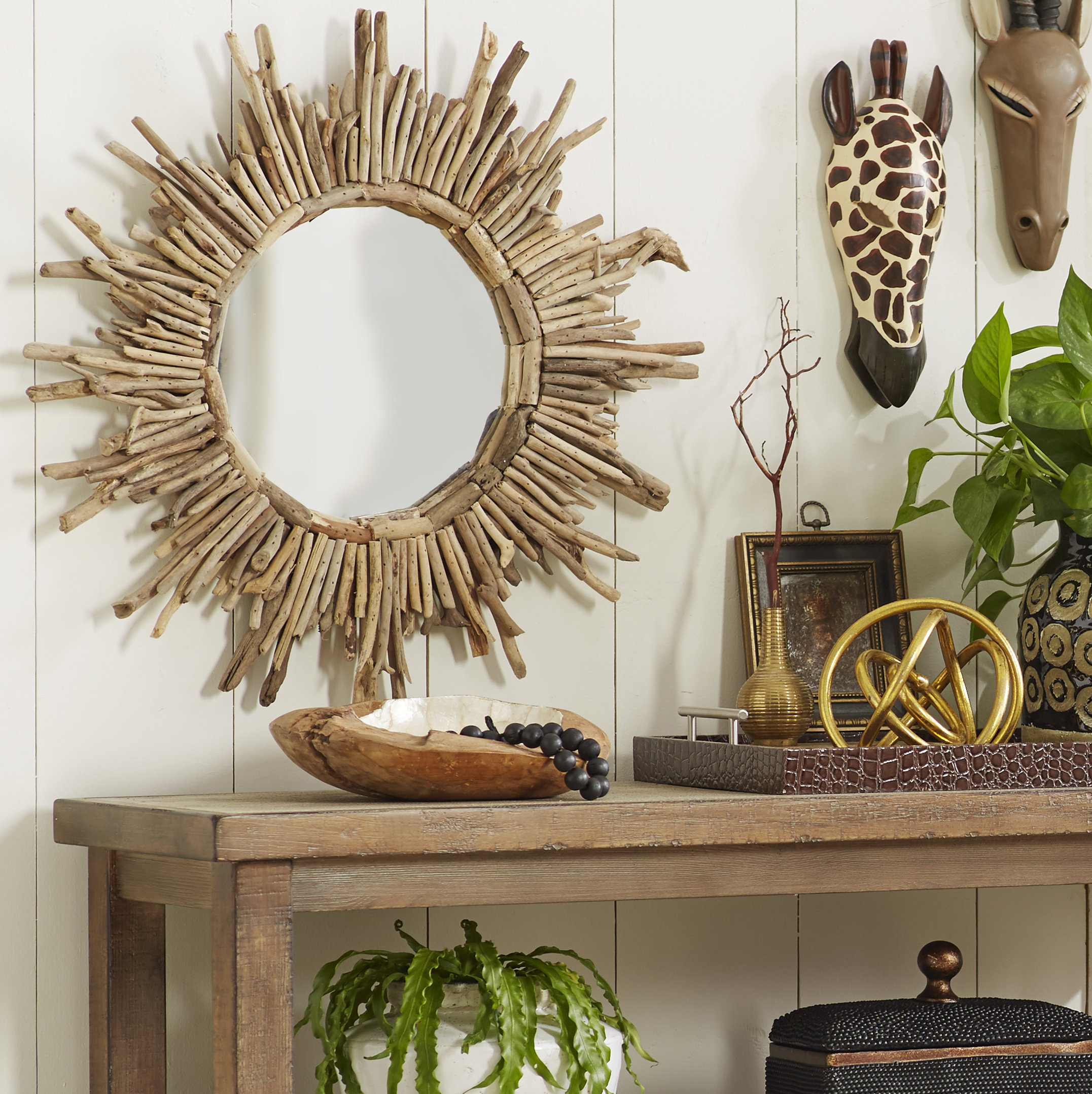 Sunburst Wall Mirrors You'll Love In 2019 | Wayfair Within Brylee Traditional Sunburst Mirrors (View 5 of 20)