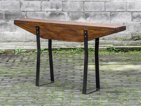 Sunpan Carmella Polished Smoked Oak / Stainless Steel 59 Throughout Carmella Satin Plated Coffee Tables (View 50 of 50)