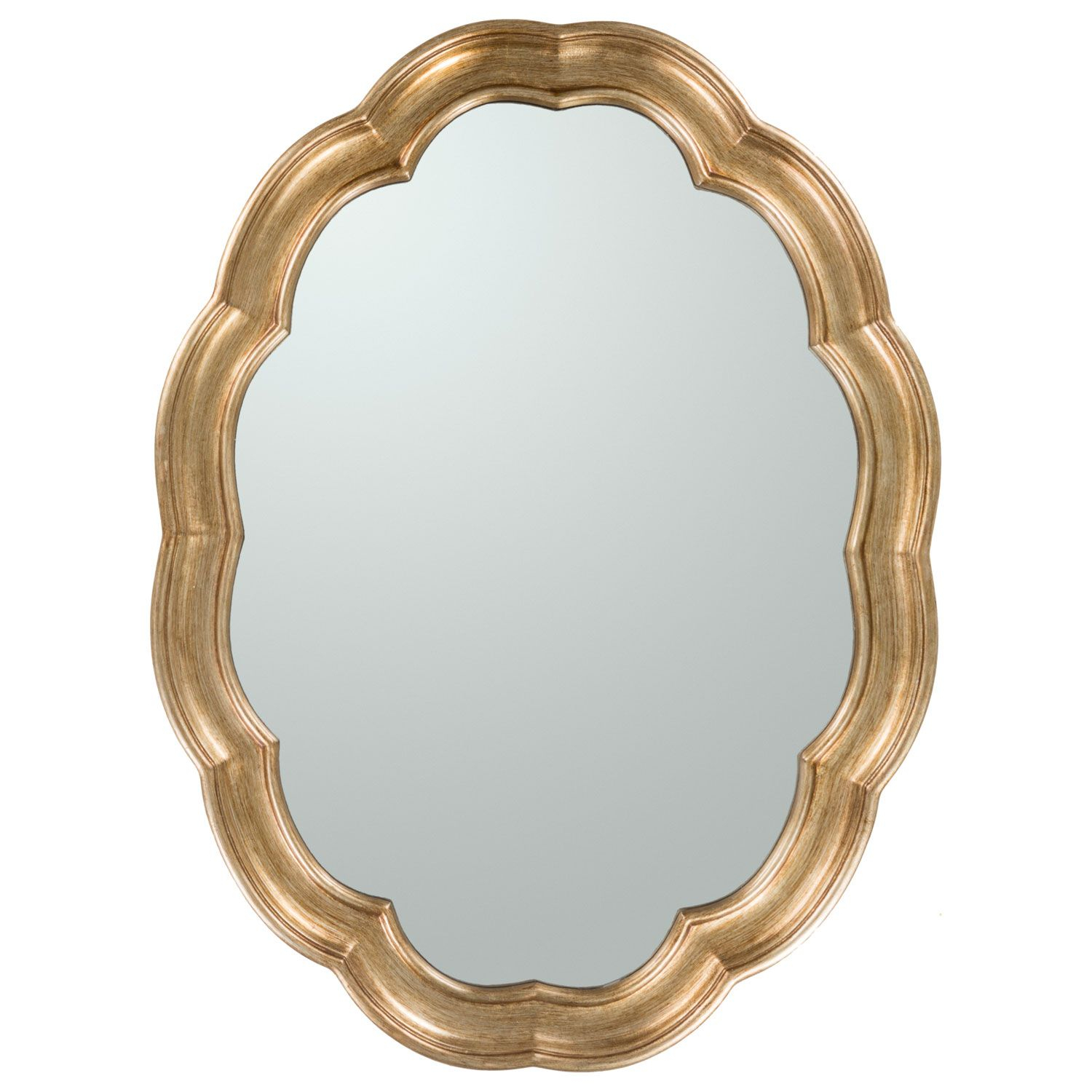 Surya Milburn Scallop Mirror Sumlb6051 #laylagrayce With Regard To Broadmeadow Glam Accent Wall Mirrors (View 6 of 20)