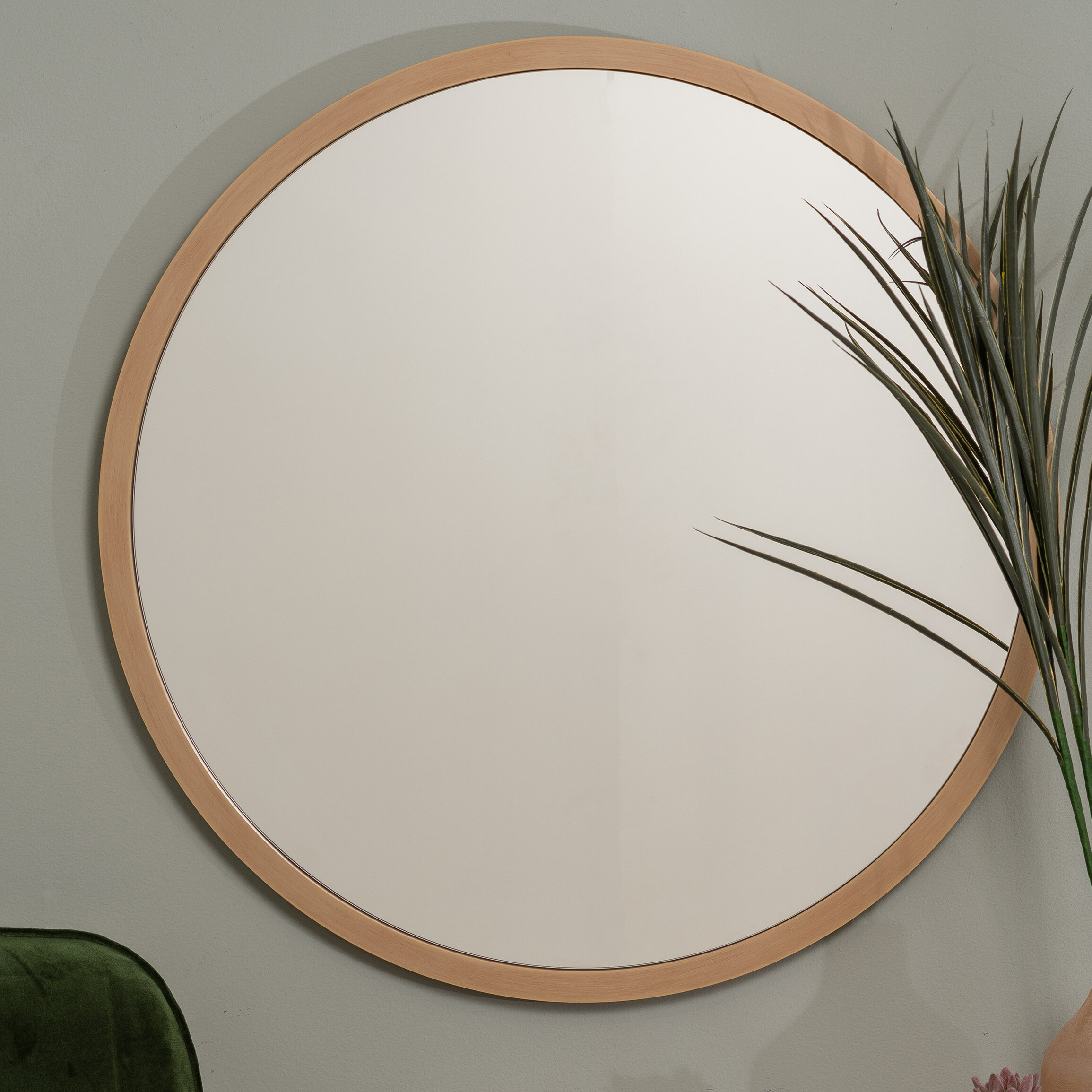 Swansea Scandinavian Round Wall Mirror For Matthias Round Accent Mirrors (Image 18 of 20)