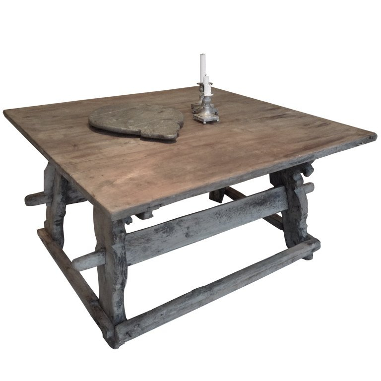 Swedish Trestle Coffee Table At 1Stdibs Bernhardt Coffee Table With Regard To Aberdeen Industrial Zinc Top Weathered Oak Trestle Coffee Tables (Image 20 of 25)