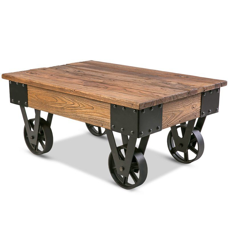 Table Basse Deon | Metal | Muebles Rústicos, Muebles Y Mesas In Furniture Of America Charlotte Weathered Oak Glass Top Coffee Tables (Image 42 of 50)