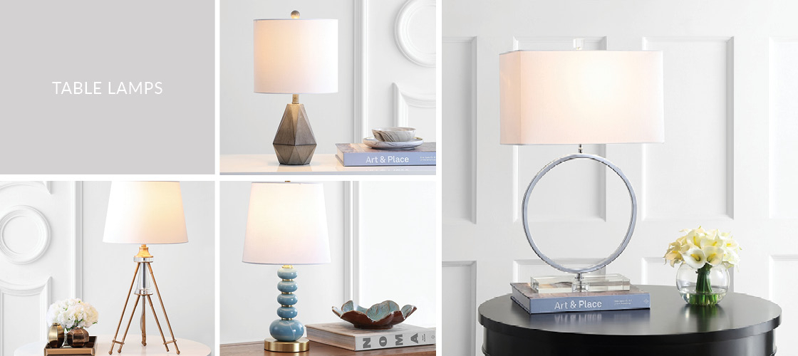 Table Lamps | Desk Lamp Sets – Safavieh Within Jayce 1 Light Cylinder Pendants (Image 24 of 25)