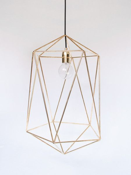 Tall Geometric Brass Pandent Lamp | Geometric Pendant Lamps With Regard To Hydetown 1 Light Single Geometric Pendants (Image 24 of 25)