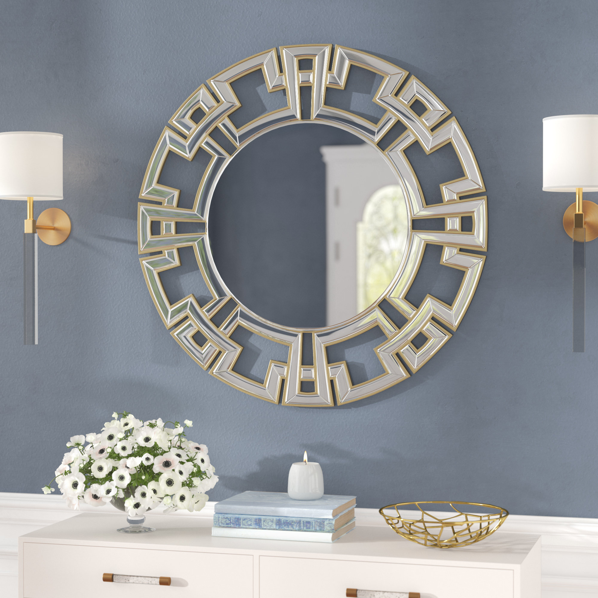 Tata Openwork Round Wall Mirror With Tata Openwork Round Wall Mirrors (Image 15 of 20)