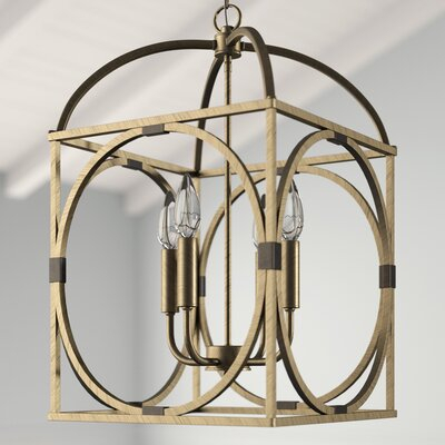 Taya 4 Light Lantern Square / Rectangle Pendant | Joss & Main Inside Taya 4 Light Lantern Square Pendants (View 4 of 20)