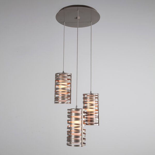 Tempest 3 Light Cluster Cylinder Pendant With Kasey 3 Light Single Drum Pendants (View 11 of 25)