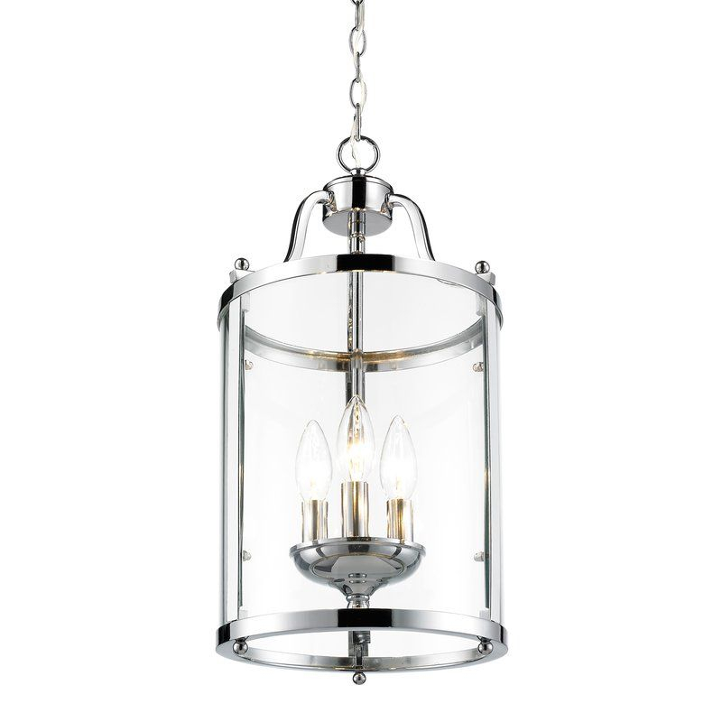 Tessie 3 Light Foyer Pendant | Top Choices For Master Inside Tessie 3 Light Lantern Cylinder Pendants (View 10 of 20)