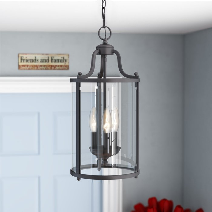 Featured Image of Tessie 3 Light Lantern Cylinder Pendants