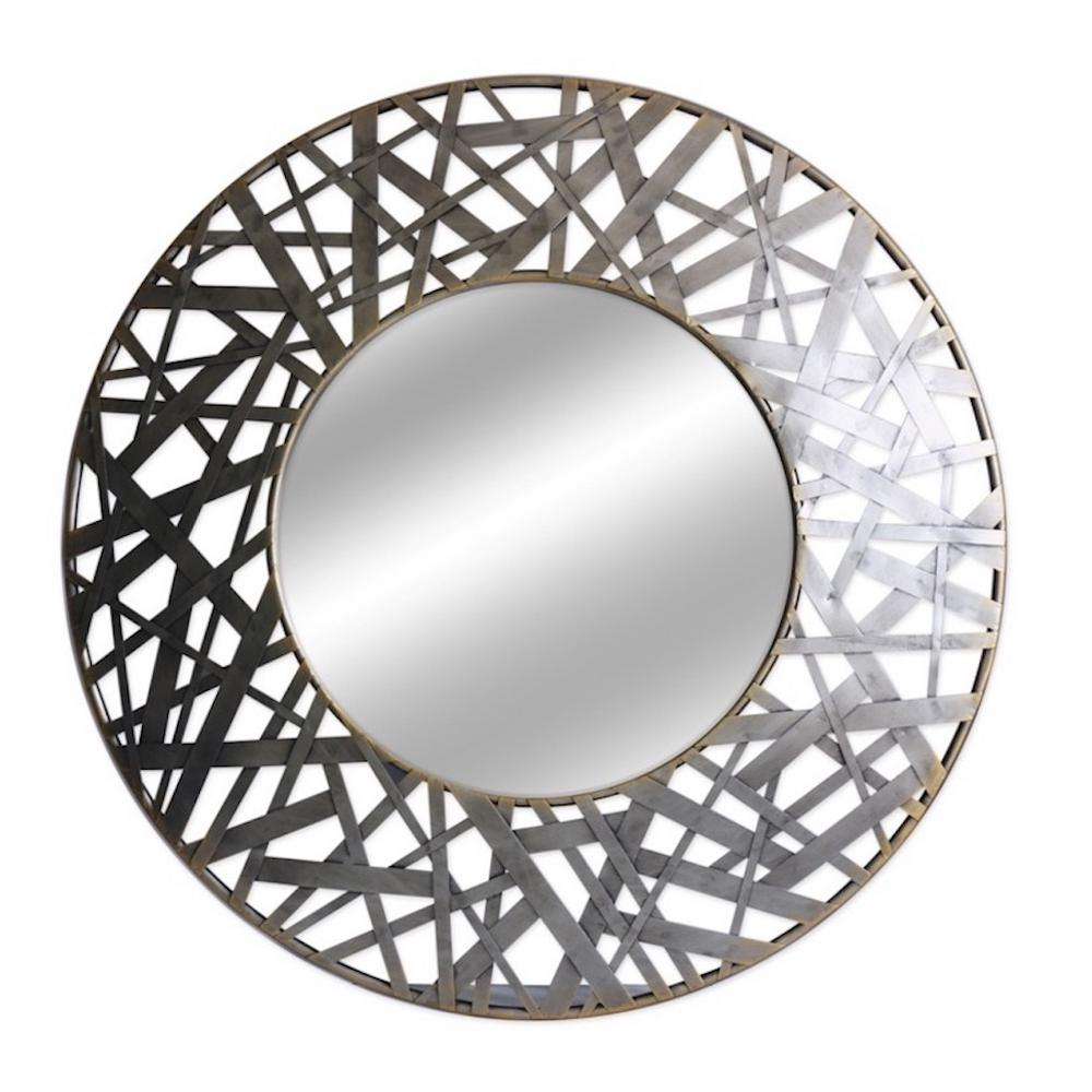 Featured Image of Round Galvanized Metallic Wall Mirrors
