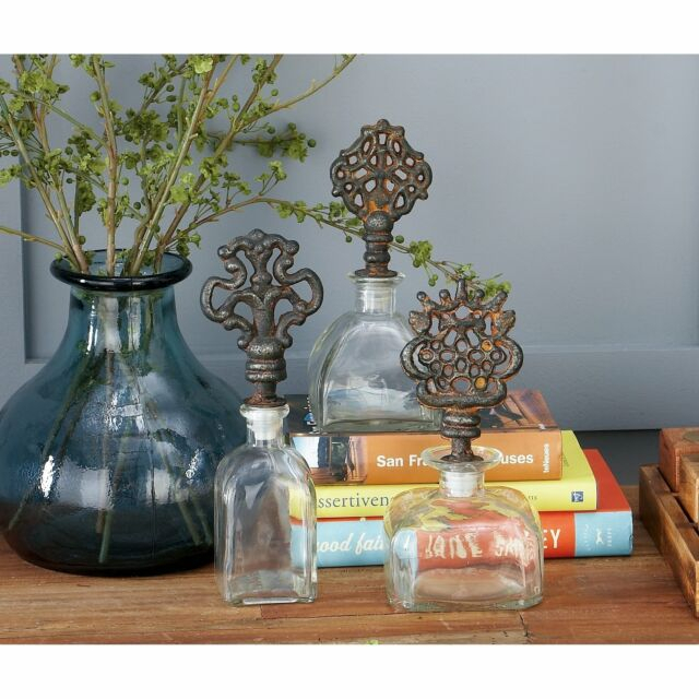 The Curated Nomad Jiminez Glass/metal Bottle Stoppers (Set Clear Within The Curated Nomad Quatrefoil Goldtone Metal And Glass Coffee Tables (View 18 of 50)
