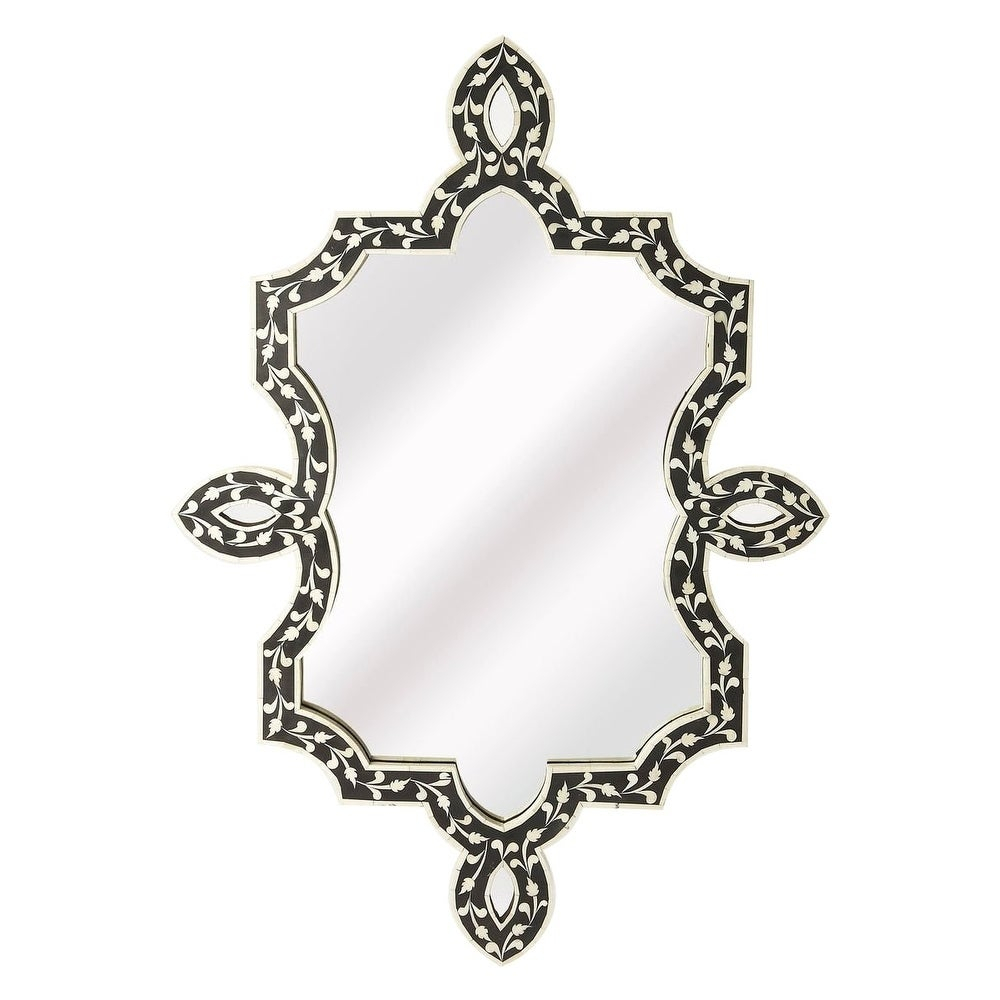 The Curated Nomad Marion Free Form Black Bone Inlay Wall Mirror For Marion Wall Mirrors (Image 20 of 20)