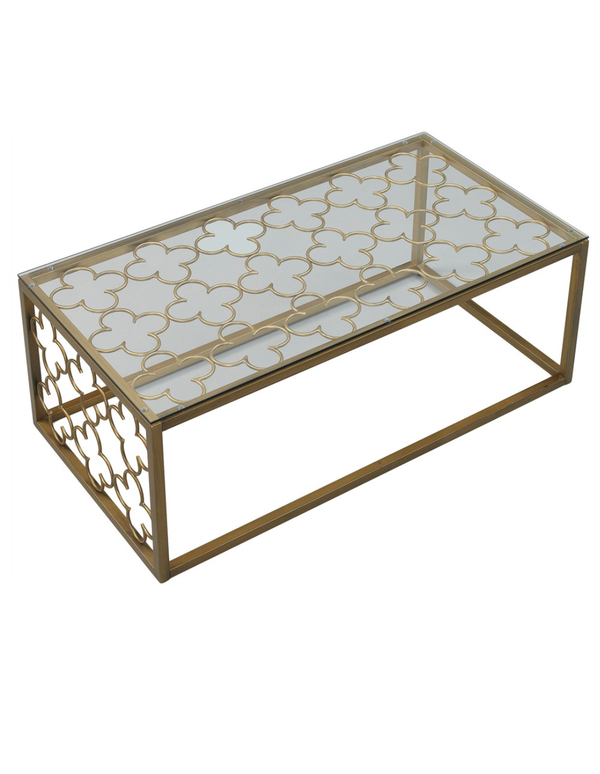 The Curated Nomad Quatrefoil Goldtone Metal And Glass Coffee Table For Sale In Seattle, Wa – Offerup Regarding The Curated Nomad Quatrefoil Goldtone Metal And Glass Coffee Tables (View 40 of 50)