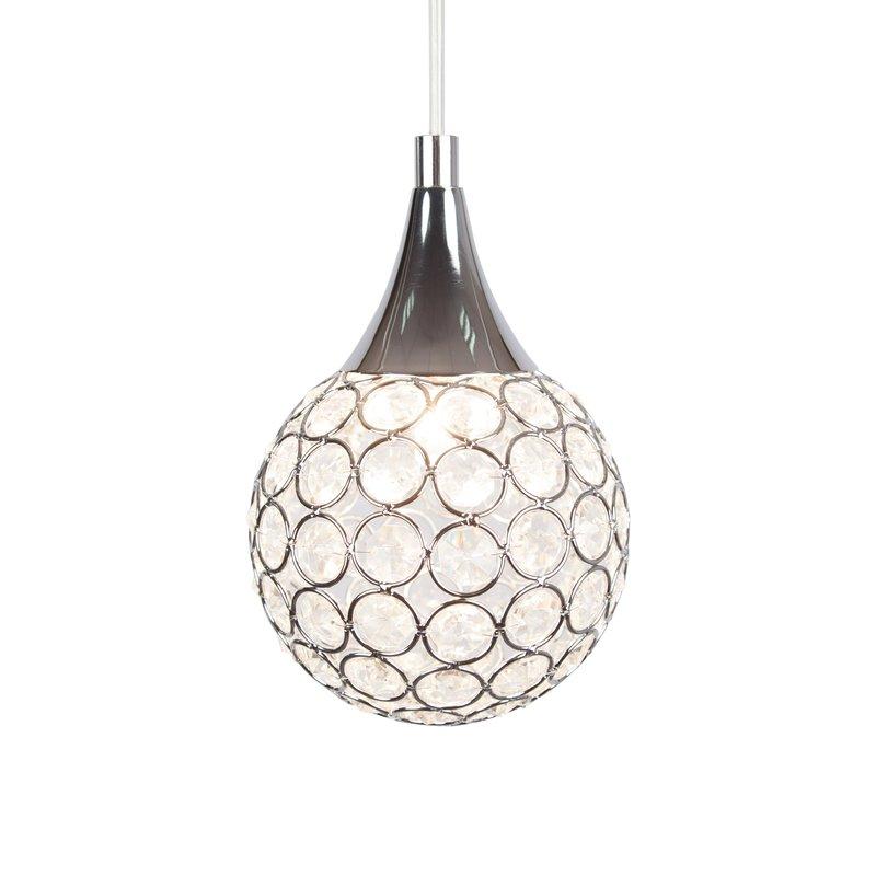Thea 1 Light Led Globe Pendant Light Inside Devereaux 1 Light Single Globe Pendants (Image 23 of 25)