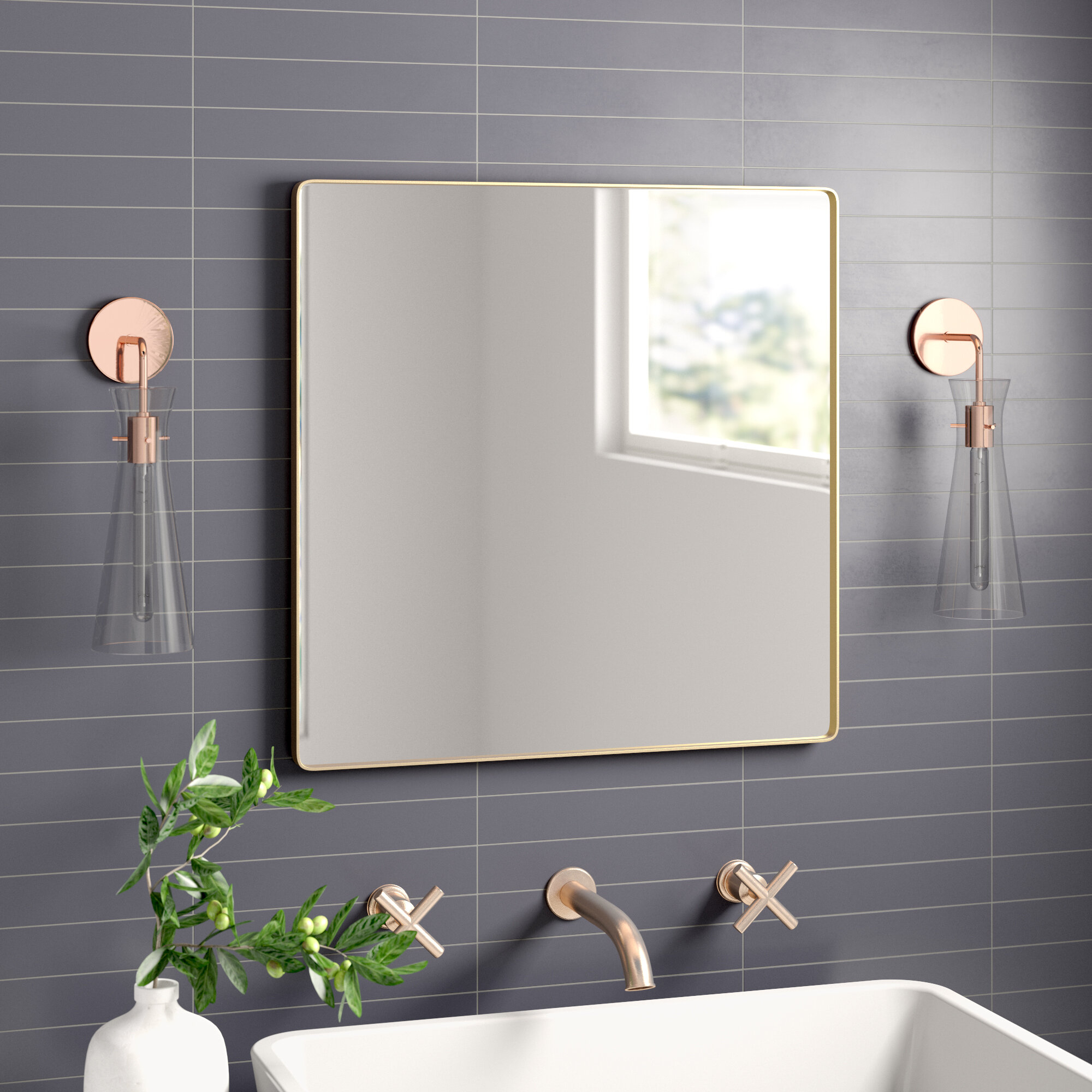 Theodore Modern & Contemporary Accent Mirror Throughout Hub Modern And Contemporary Accent Mirrors (Photo 20 of 20)