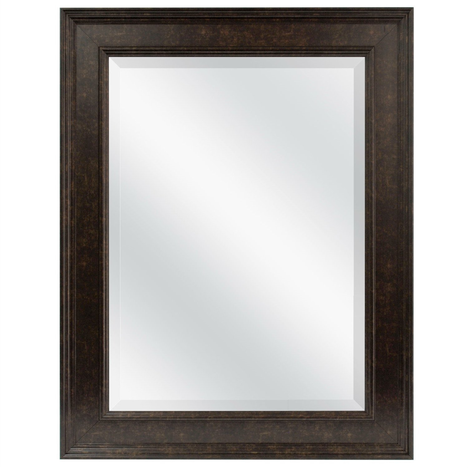 This Beveled Rectangular Bathroom Vanity Mirror With Bronze Pertaining To Kristy Rectangular Beveled Vanity Mirrors In Distressed (Image 19 of 20)