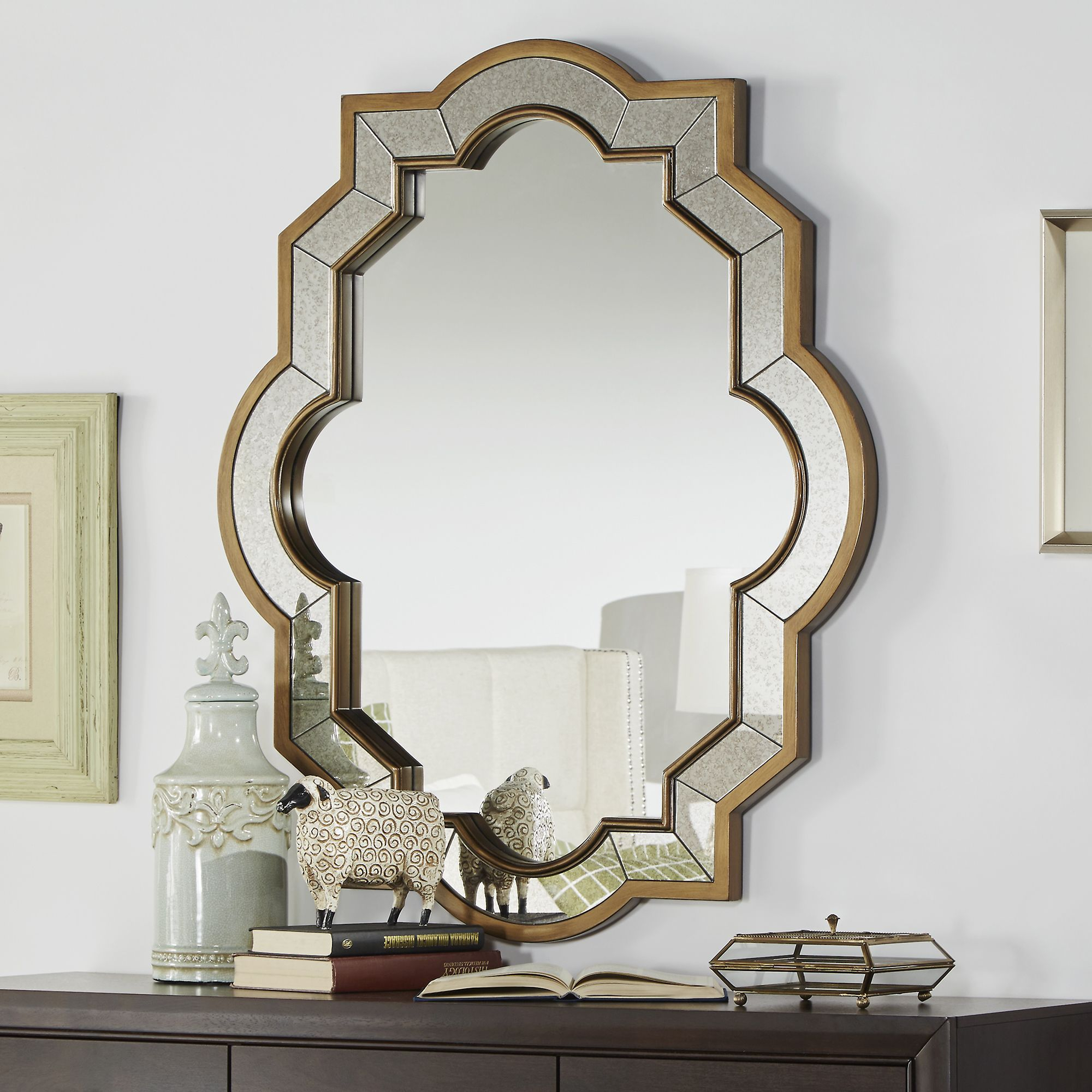 This Decorative Wall Mirror Provides Both Functionality And With Regard To Broadmeadow Glam Accent Wall Mirrors (View 8 of 20)
