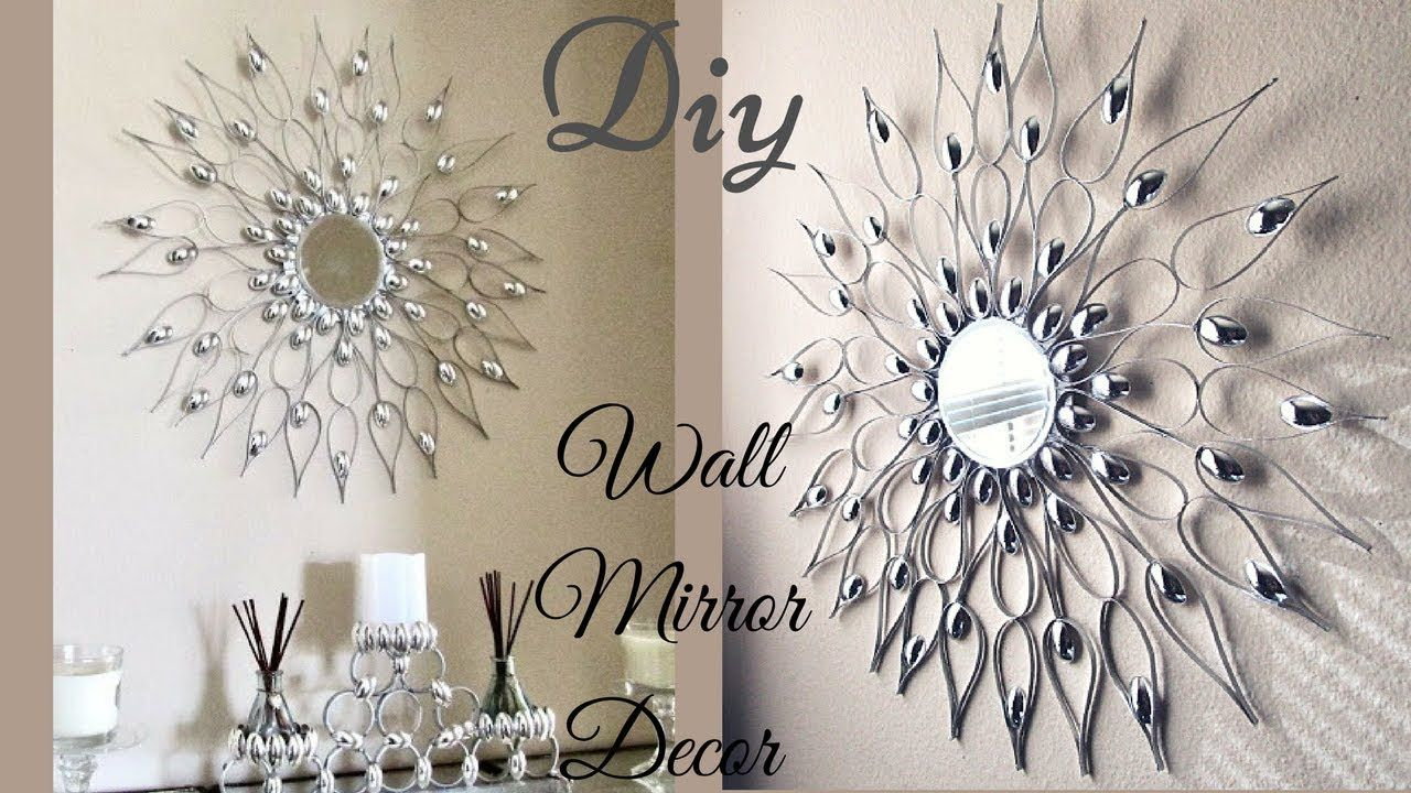 This Is A Diy Wall Mirror Decor That Is Quick And Easy To Within Bruckdale Decorative Flower Accent Mirrors (View 3 of 20)