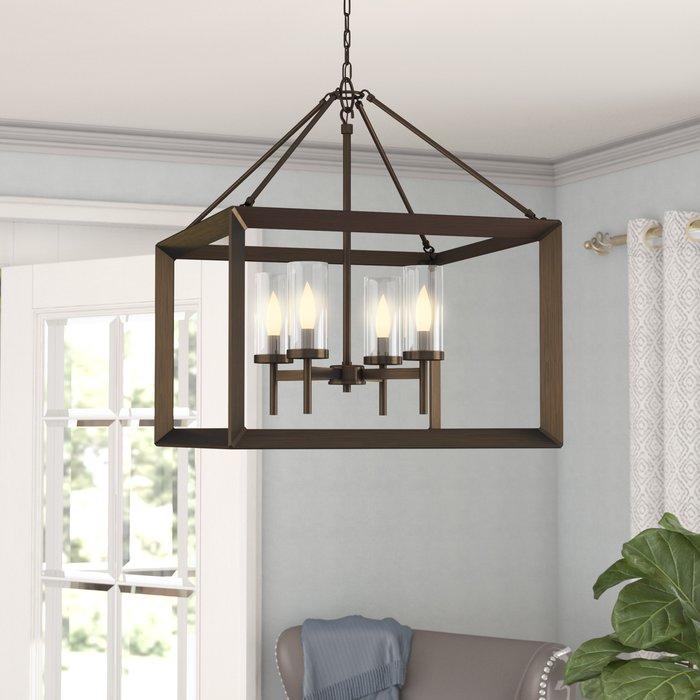 Thorne 4 Light Lantern Rectangle Pendant Pertaining To William 4 Light Lantern Square / Rectangle Pendants (Image 15 of 25)