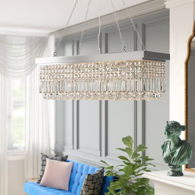 Three Posts Verdell 5 Light Crystal Chandelier Finish Intended For Verdell 5 Light Crystal Chandeliers (Image 18 of 20)