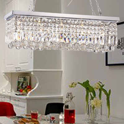 Three Posts Verdell 5 Light Crystal Chandelier | Products Intended For Verdell 5 Light Crystal Chandeliers (Image 16 of 20)