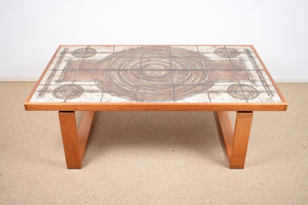 Tile Coffee Tables – The Arts With Regard To Copper Grove Ixia Rustic Oak And Slate Tile Coffee Tables (View 25 of 25)