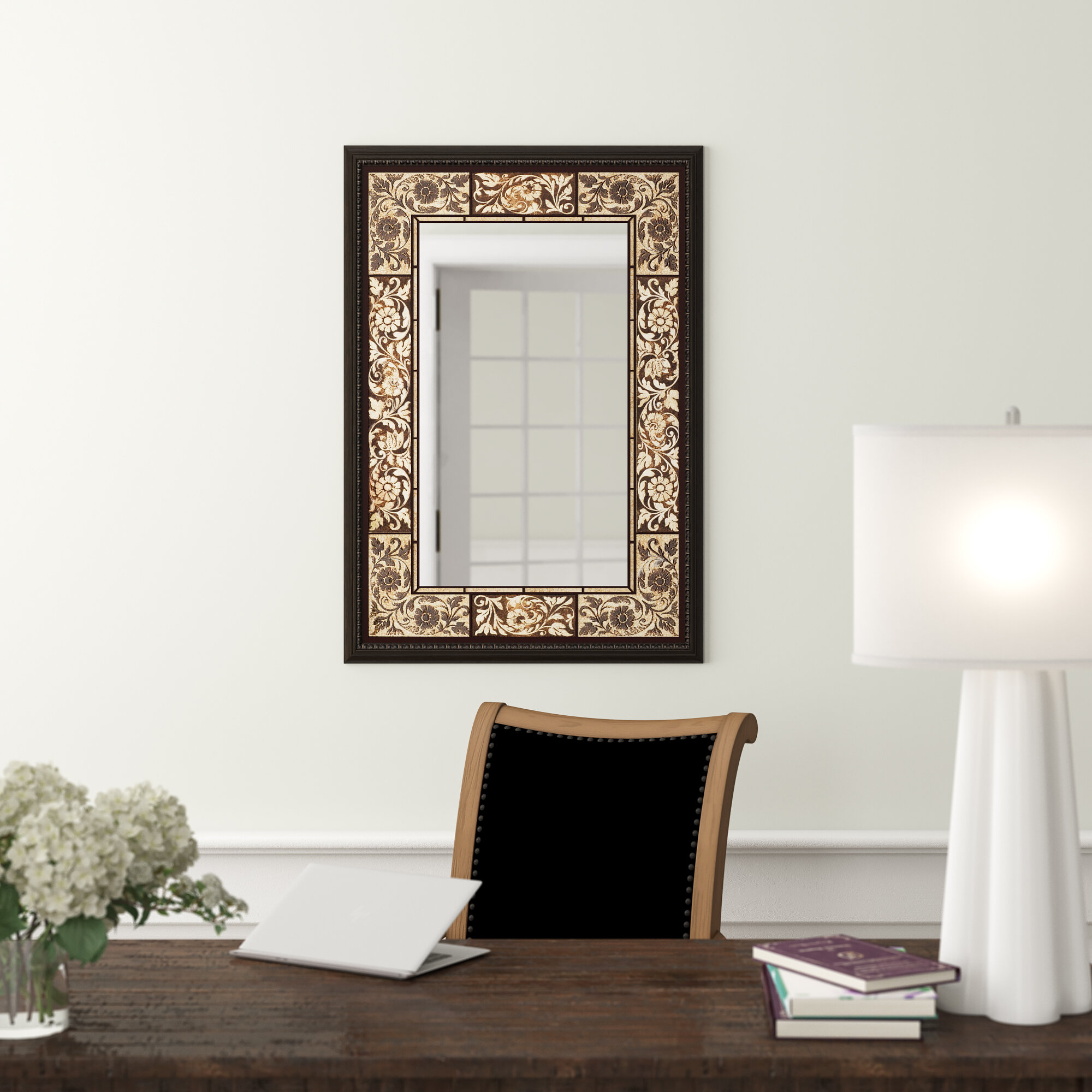 Tile Rectangle Accent Wall Mirror Pertaining To Hussain Tile Accent Wall Mirrors (Image 16 of 20)
