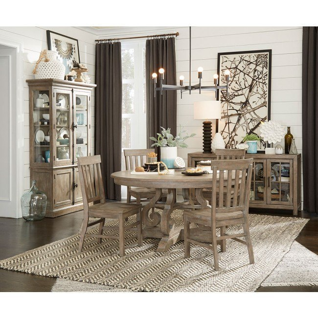 Tinley Park 60 Inch Round Dining Room Set Throughout Tinley Park Traditional Dove Tail Grey Coffee Tables (View 17 of 25)