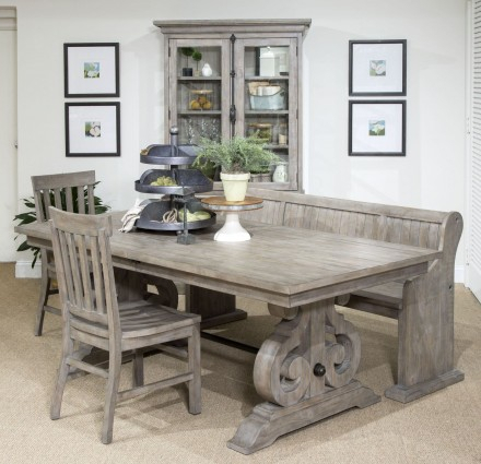 Tinley Park Dove Tail Grey Rectangular Dining Room Set In Tinley Park Traditional Dove Tail Grey Coffee Tables (View 5 of 25)
