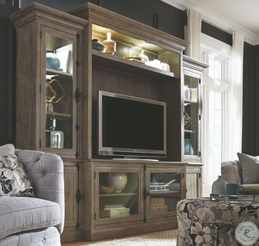 Tinley Park Dovetail Grey Entertainment Wall Unit Throughout Tinley Park Traditional Dove Tail Grey Coffee Tables (View 25 of 25)