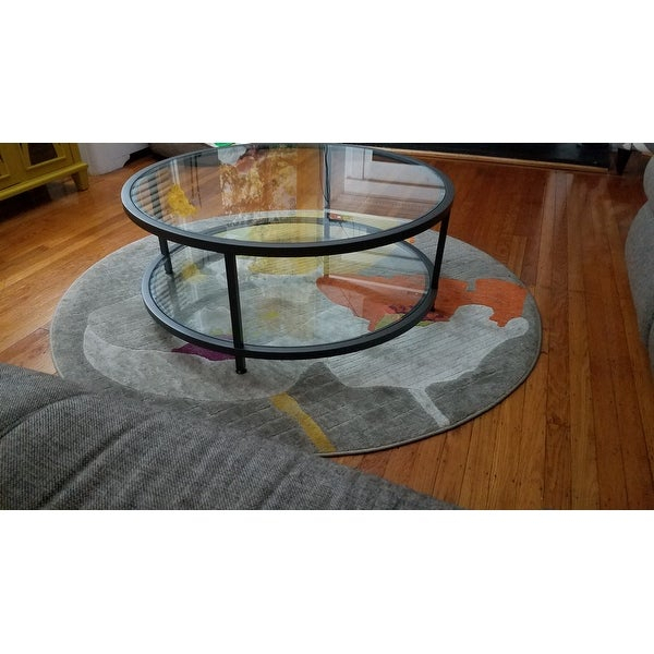 Top Product Reviews For Carbon Loft Heimlich Pewter Steel Inside Carbon Loft Heimlich Pewter Steel/glass Round Coffee Tables (View 3 of 25)