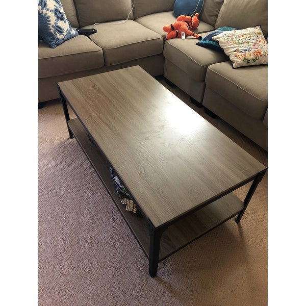 Top Product Reviews For Carbon Loft Witten Angle Iron And Inside Carbon Loft Witten Angle Iron And Driftwood Coffee Tables (View 2 of 25)