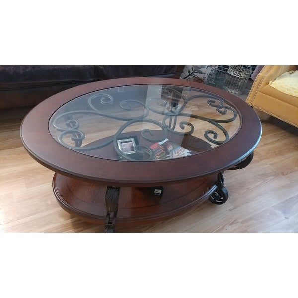Top Product Reviews For Cohler Traditional Brown Cherry Oval Inside Cohler Traditional Brown Cherry Oval Coffee Tables (View 4 of 25)