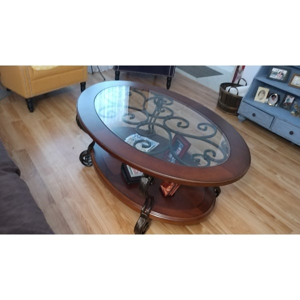 Top Product Reviews For Cohler Traditional Brown Cherry Oval Throughout Cohler Traditional Brown Cherry Oval Coffee Tables (View 15 of 25)