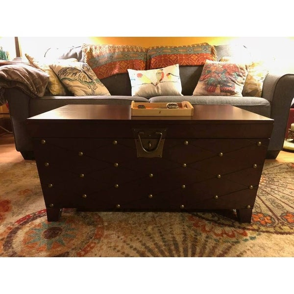 Top Product Reviews For Copper Grove Liatris Nailhead In Copper Grove Liatris Black And Satin Silver Coffee Tables (View 7 of 25)
