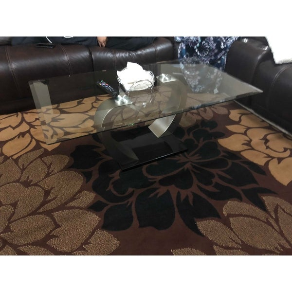 Top Product Reviews For Furniture Of America Carmella Satin Inside Carmella Satin Plated Coffee Tables (View 5 of 50)
