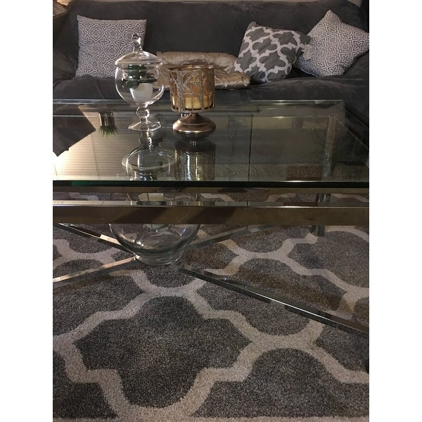 Top Product Reviews For Strick & Bolton Jules Chrome And In Strick & Bolton Jules Chrome And Glass Coffee Tables (View 7 of 25)