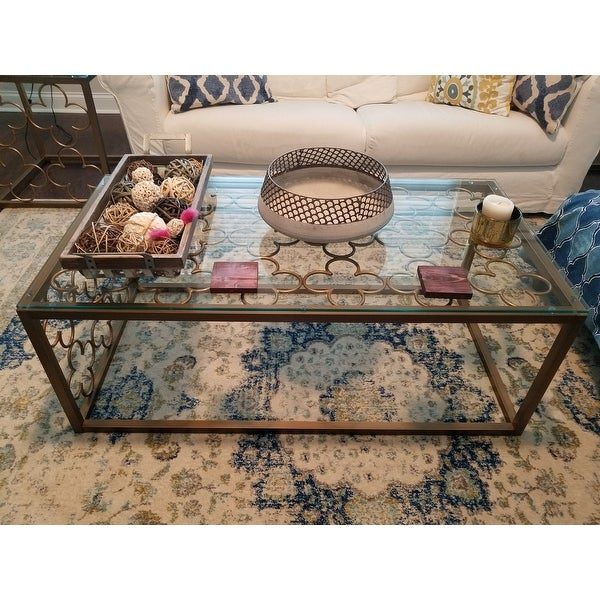 Top Product Reviews For The Curated Nomad Quatrefoil Throughout The Curated Nomad Quatrefoil Goldtone Metal And Glass Coffee Tables (View 15 of 50)