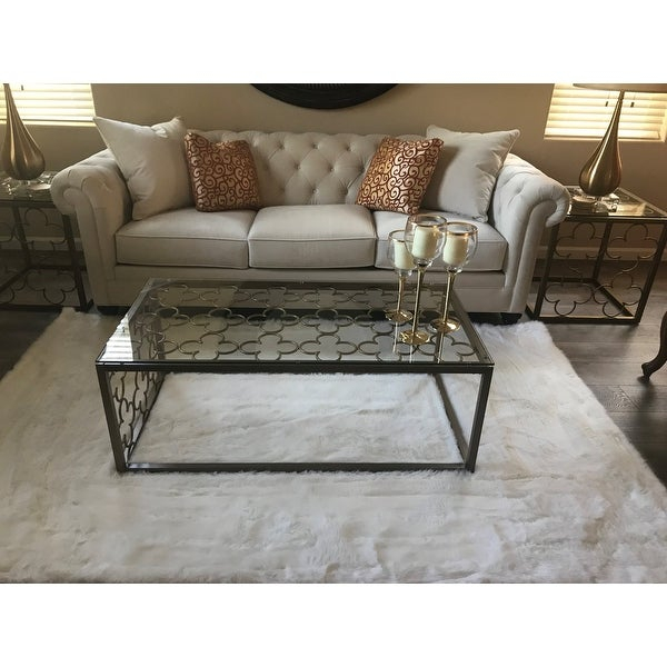 Top Product Reviews For The Curated Nomad Quatrefoil With Regard To The Curated Nomad Quatrefoil Goldtone Metal And Glass Coffee Tables (View 34 of 50)