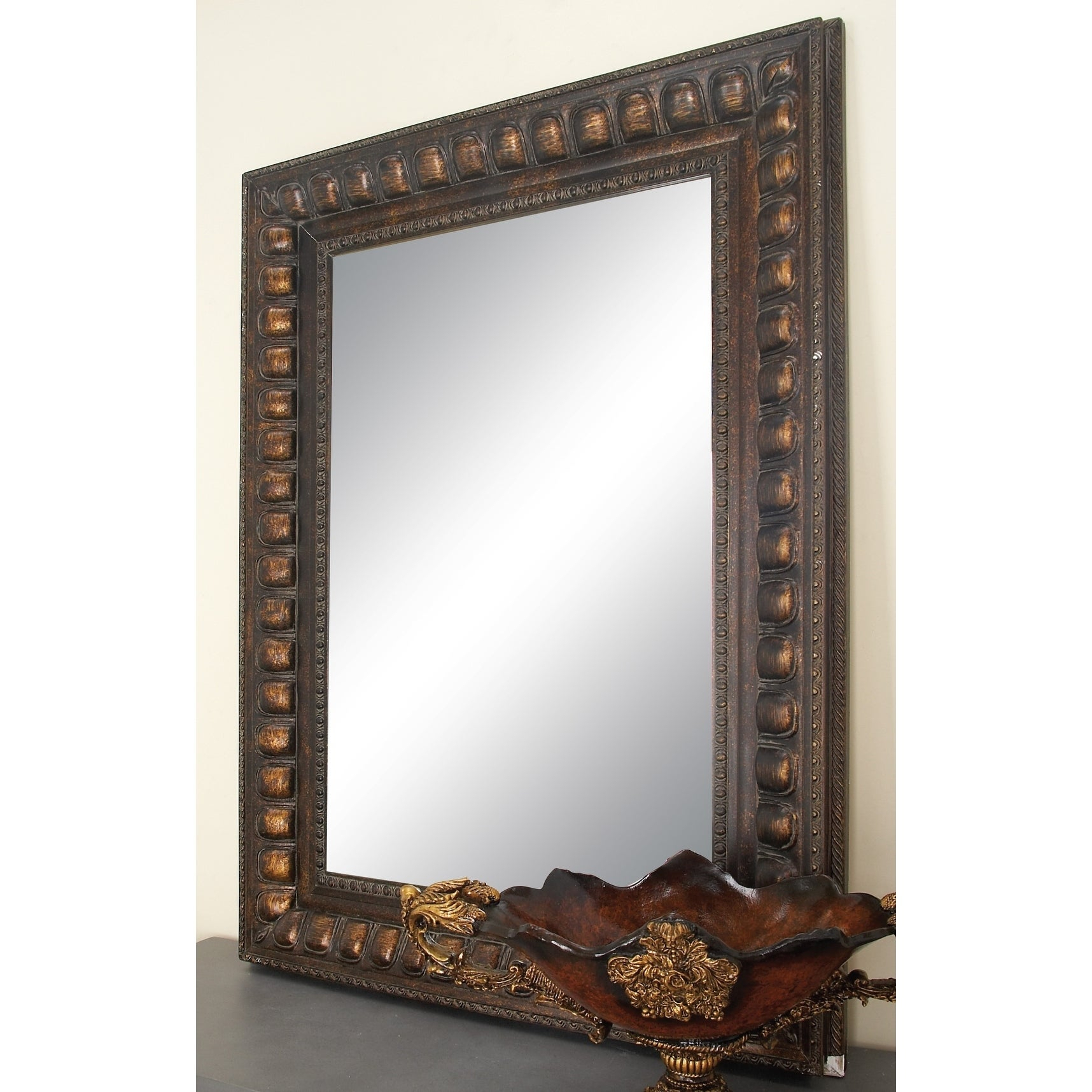 Traditional 48 X 36 Inch Brown Wood Beveled Wall Mirrorstudio 350 – N/a With Traditional Beveled Wall Mirrors (View 15 of 20)